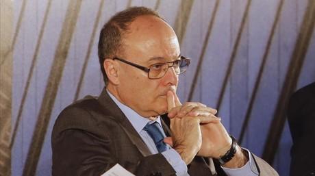 Luis Maria Linde, durante un encuentro del sector financiero, el pasado 8 abril en Madrid.