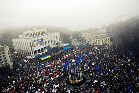 Multitudinaria manifestación en Ucrania en favor de un acuerdo con la UE
