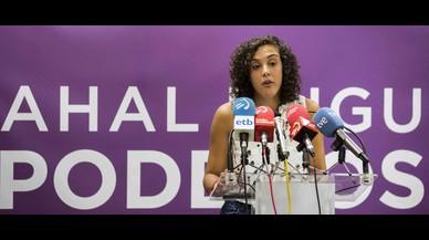 """La secretaria general de Podemos Euskadi admite que le han puesto """"palos en las ruedas"""" en su partido"""
