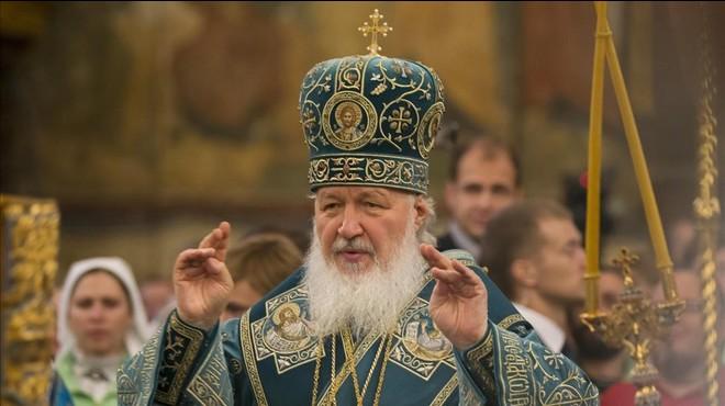 El patriarca Kirill, en un servicio religioso en noviembre del 2015.