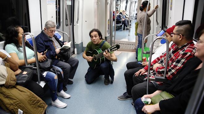 Un trobador al metro