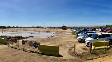 Viladecans restringe el aparcamiento de la playa de la Murtra por obras
