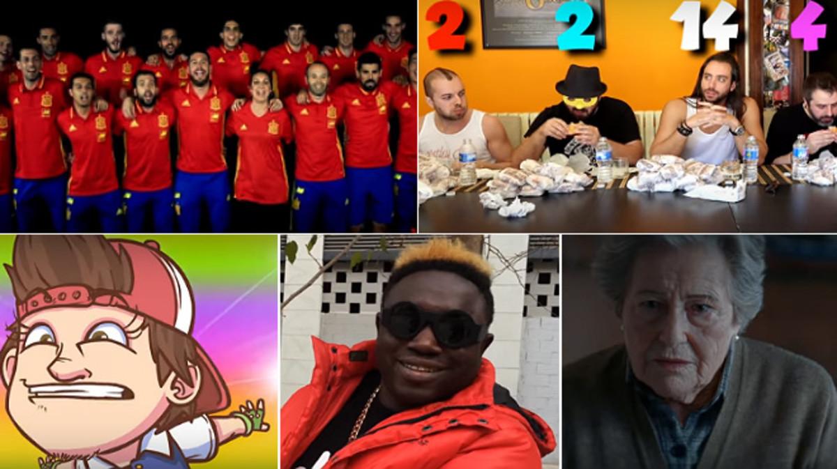 Yotube publica el ránking de vídeos más vistos en España este 2016.
