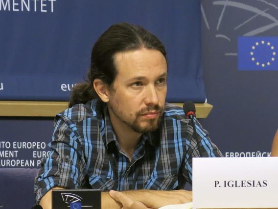Pablo Iglesias, en una rueda de prensa, el pasado septiembre en Bruselas.