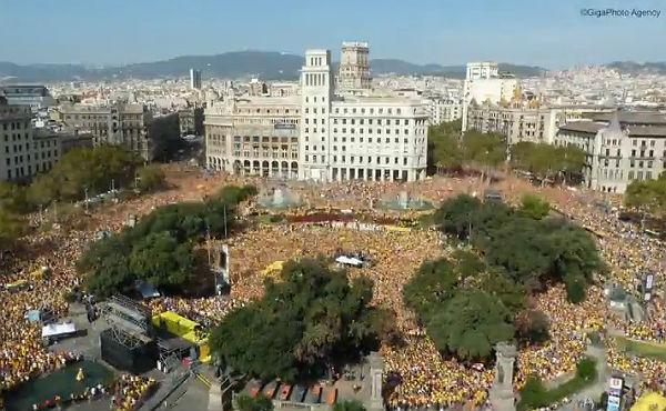 'Timelapse' en la plaza de Catalunya