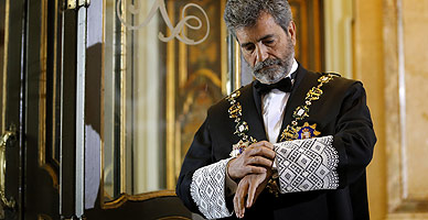 El presidente del Tribunal Supremo, Carlos Lesmes, en el acto de apertura del a�o judicial.