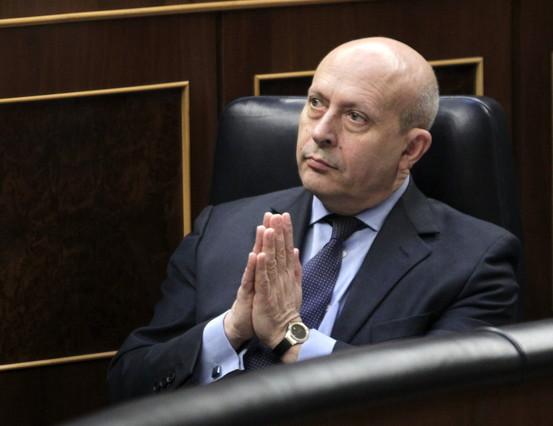 El ministro de Educación, José Ignacio Wert, en el Congreso, en diciembre del 2013.