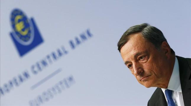 Mario Draghi, durante una conferencia de prensa en la sede del BCE en Fráncfort.