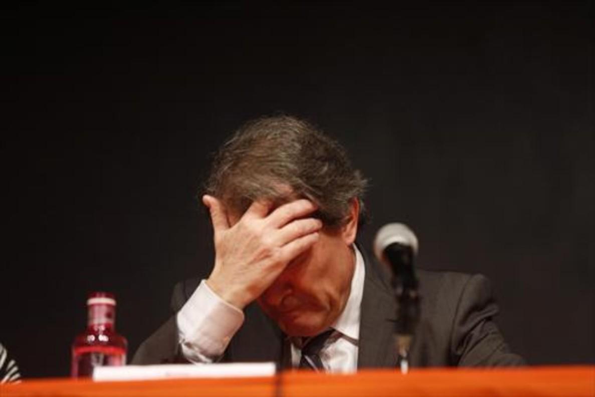 Artur Mas, anteayer, en una conferencia en LHospitalet de Llobregat.