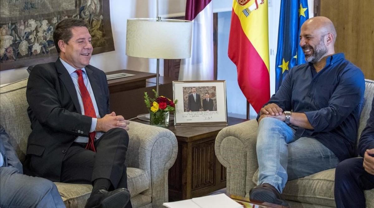 García-Page y García Molina en el Palacio de Fuensalida, Toledo.