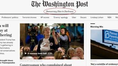 'The Washington Post' 'canvia d'eslògan en defensa de la llibertat de premsa