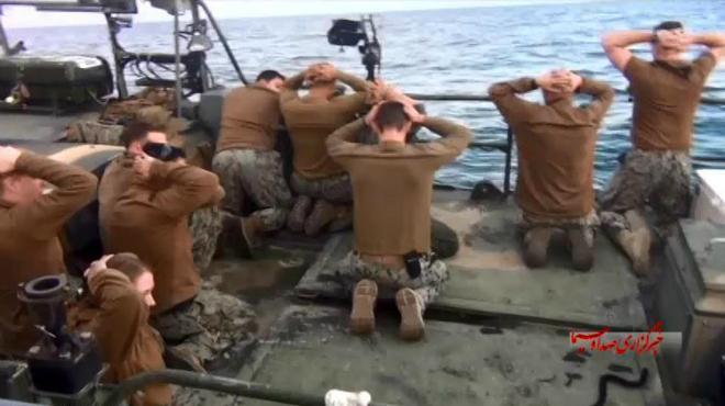 Vídeo de la captura de marines de EEUU en aguas de Irán.