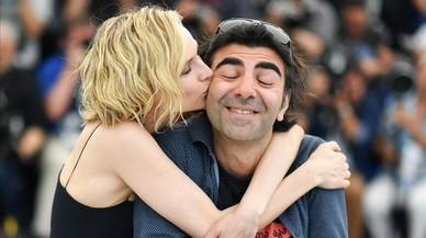Diane Kruger y Fatih Akin, en la presentación de 'In the fade' en Cannes.
