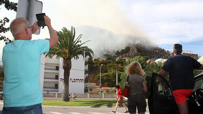 Estabilitzat l'incendi forestal de l'Estartit