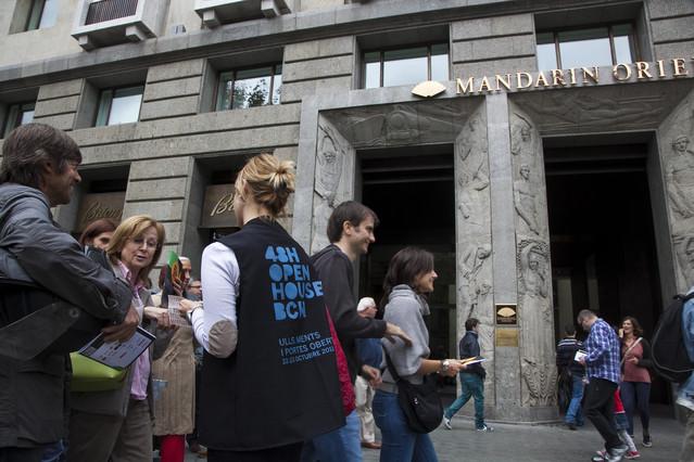 �xito de la jornada de puertas abiertas en edificios de Barcelona