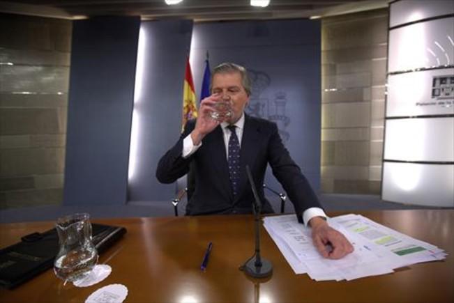 El ministro Íñigo Méndez de Vigo, en una rueda de prensa tras el Consejo de Ministros.