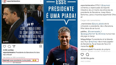 """Neymar: """"Bartomeu és una broma"""""""