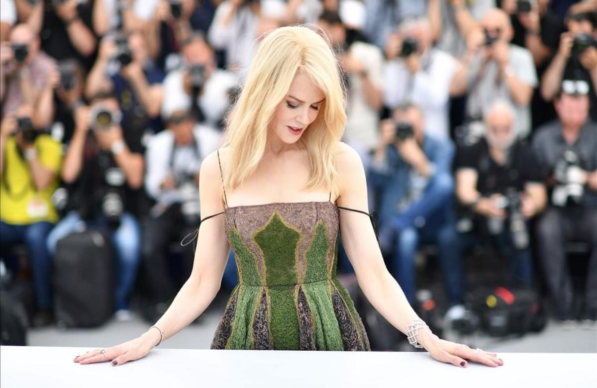 Nicole Kidman posa para los fotógrafos en elel Festival de Cine de Cannes.