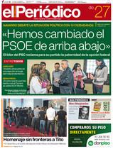 La portada del domingo de EL PERIÓDICO