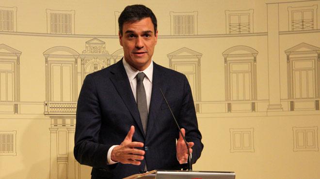 Resumen de declaraciones de Pedro S�nchez tras su encuentro con el 'president' de la Generalitat, Carles Puigdemont.