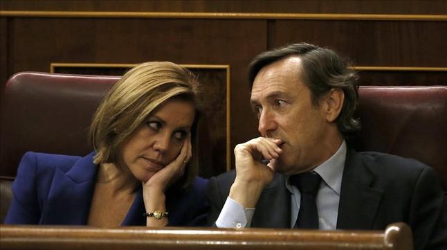 """Cospedal impulsa contactos pol�ticos """"discretos"""" para lograr la investidura de Rajoy"""