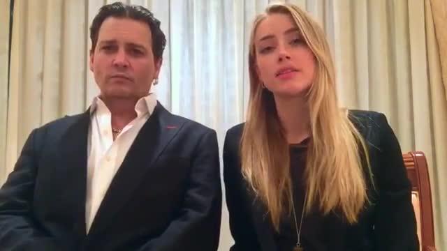 El vergonyós vídeo de disculpes de Johnny Depp i la seva dona Amber Heard