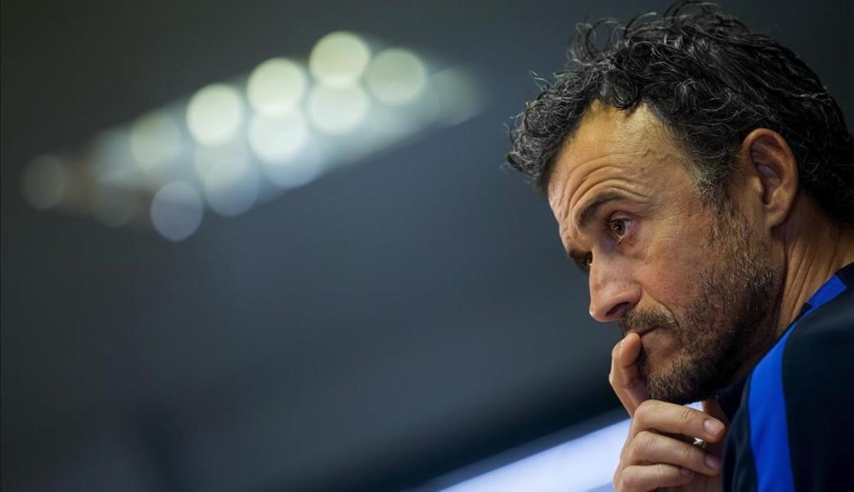 Seguiu la roda de premsa de Luis Enrique prèvia al derbi contra l'Espanyol