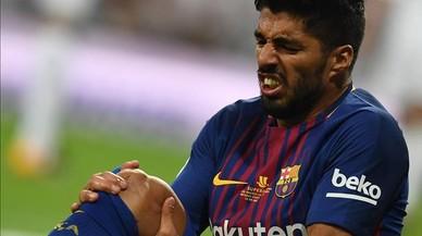 Luis Suárez estarà un mes de baixa per lesió al genoll