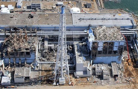 Central nuclear de Fukushima, tras el accidente de marzo del 2011.