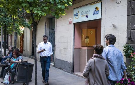 La sede de CDC de la calle Ast�ries, en el barrio de Gr�cia de Barcelona, una de las que el fiscal pide embargar.
