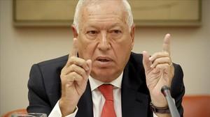 El ministro de Asuntos Exteriores, José Manuel García Margallo, en una comparecencia reciente en comisión.