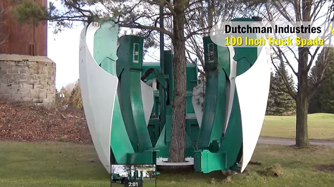 Una colosal m quina para trasplantar rboles sin da arlos for Como echar gotele sin maquina