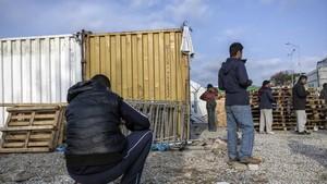 El campo de refugiados de Moria, en la isla de Lesbos, el pasado febrero.