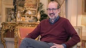 El periodista Antoni Bassas, en el Hotel Palace.
