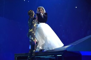 Lady Gaga, en su concierto del pasado 18 de diciembre en Inglewood, California (EEUU) dentro de su gira Joanne.
