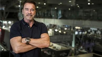 Arnold Schwarzenegger en el evento multideportivo que organiza en la Fira del Hospitalet.