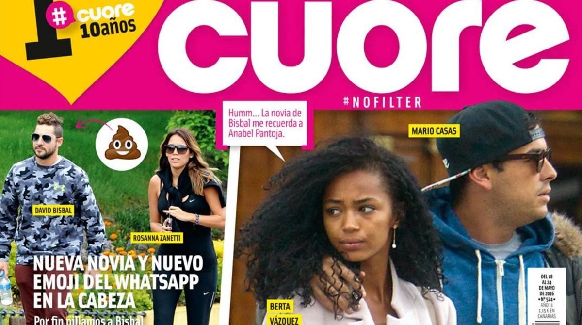 Berta Vázquez protagoniza la portada de 'Cuore' de esta semana.