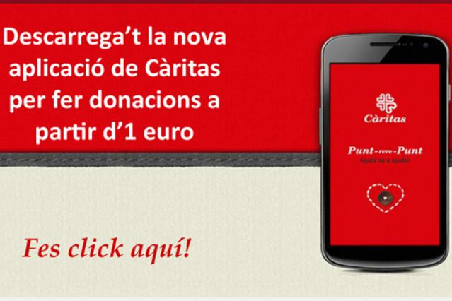 Una aplicación móvil permite hacer donaciones a Cáritas y decidir a qué proyectos destinarlas