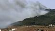 Las llamas arrasan el monte Gurug�, refugio de inmigrantes que esperan saltar a Melilla