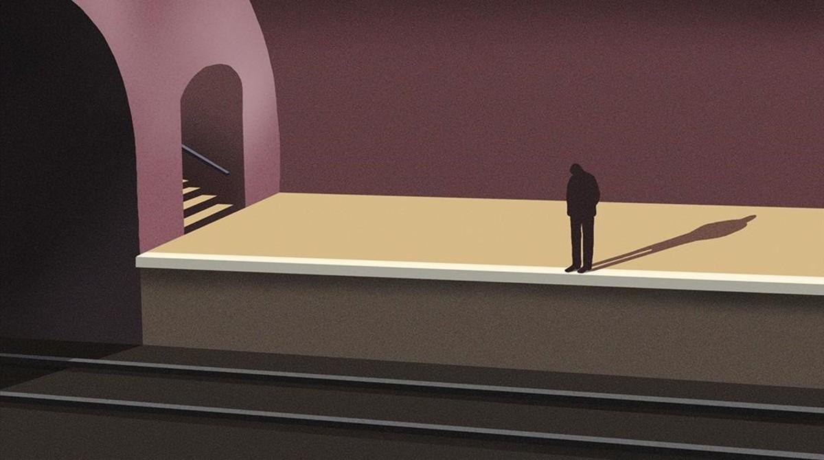 Un botó per a l'esperança al metro