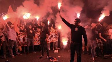 Insults i una agressió a Barcelona després d'una manifestació de l'extrema dreta