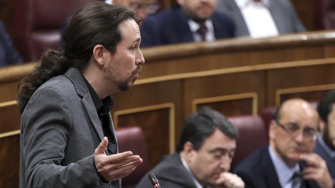 Iglesias es burla del president i l'acusa de menysprear el legislatiu perquè ja té els suports lligats els comptes del 2017