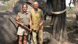 La imagen del Rey cazando en Botswana, lugar donde se rompió la cadera y se vio obligado a pedir disculpas por ello.