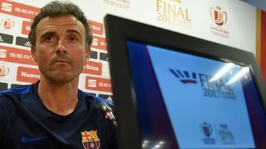 Luis Enrique, en la conferencia de prensa previa a la final de la Copa del Rey.