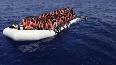 Immigrants a la deriva al Mediterrani central