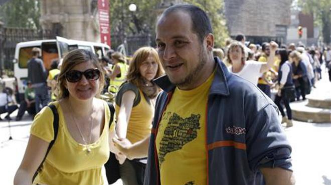 Protesta davant el Parlament en suport als condemnats del 15-J