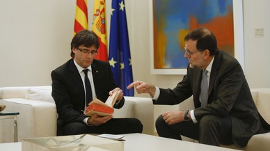 Rajoy i Puigdemont es van veure l'11 de gener