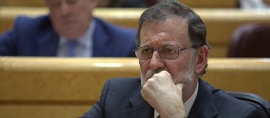 Rajoy, en el Senado este martes.
