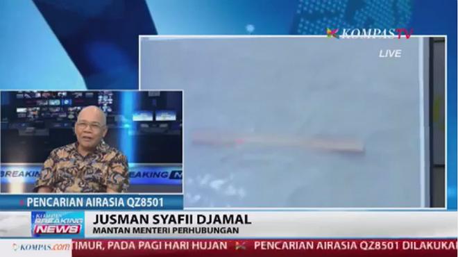 Vídeo con los presuntos restos del avión de AirAsia siniestrado.