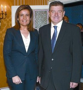 Bez y el director general de la OIT, Guy Ryder.